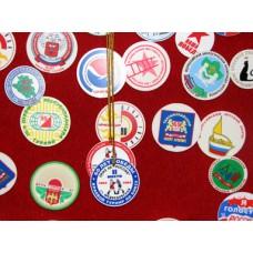 Значки и медали:  шелкография